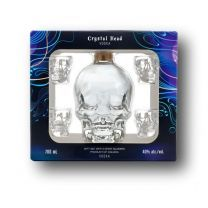 Crystal Head Premium Vodka 4 x Shot Glass Gift Pack 70cl