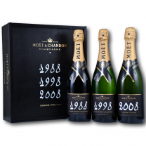 Moet & Chandon Grand Vintage Trilogy Set (1988, 1998, 2008)  3 x 75CL