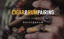 Cigar & Rum Pairing Evening 28th June 2018 7pm