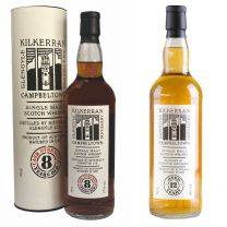 Kilkerran 8 Year Old Cask Strength 57.1% and Kilkerran 12 Year Old 70cl