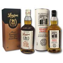 Kilkerran Heavily Peated Cask Strength Batch 3 & Longrow 21 Year Old Single Malt Scotch Whisky 70CL