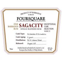 Foursquare Rum Sagacity 12 Year Old Single Blended Rum 48% 70CL