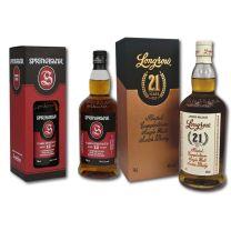 Springbank 12 Year Old Cask Strength & Longrow 21 Year Old Single Malt Scotch Whisky 2020 Release 70CL
