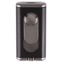 Xikar Verano Flat Double Flame Lighter - Black