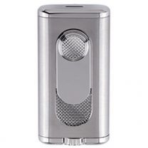 Xikar Verano Flat Double Flame Lighter - Silver